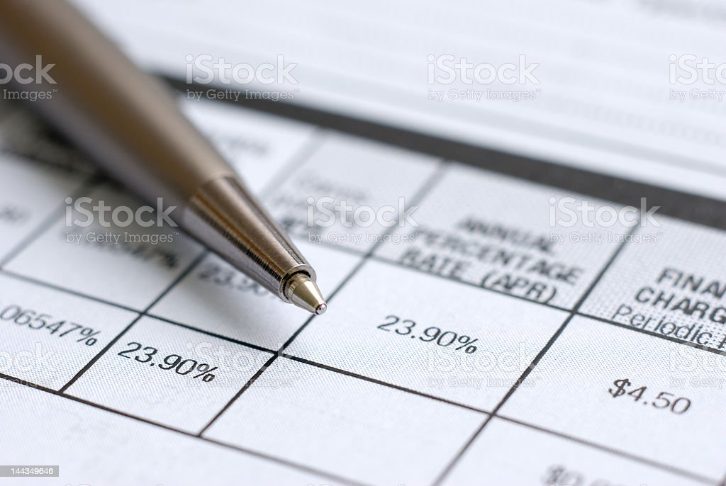 Annual Percantage Rate royalty-free stock photo