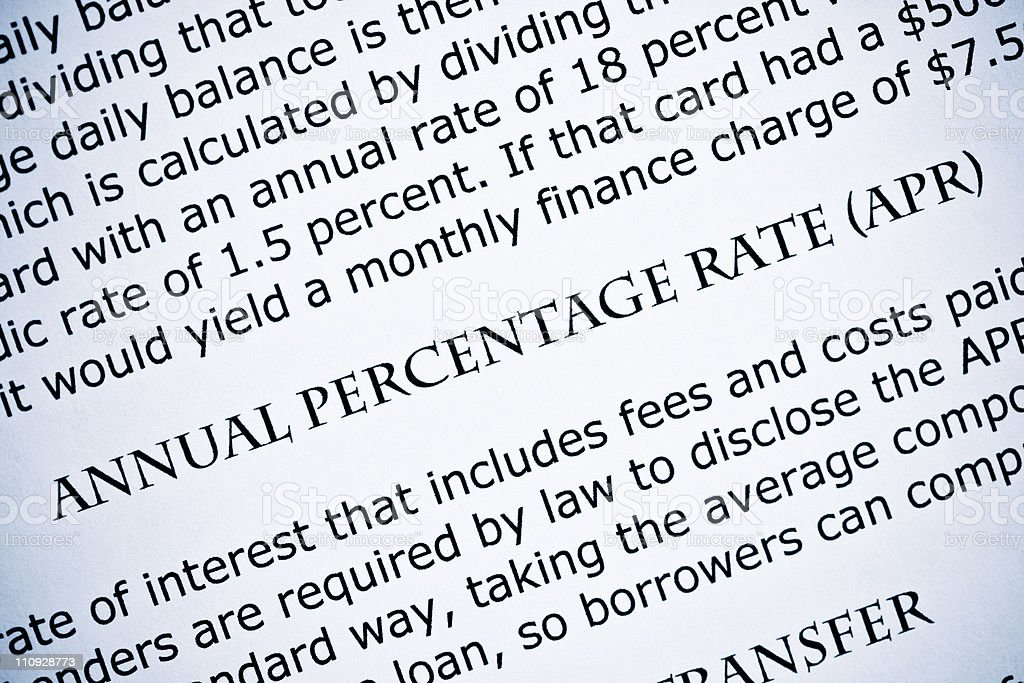 Annual percentage rate - APR stock photo