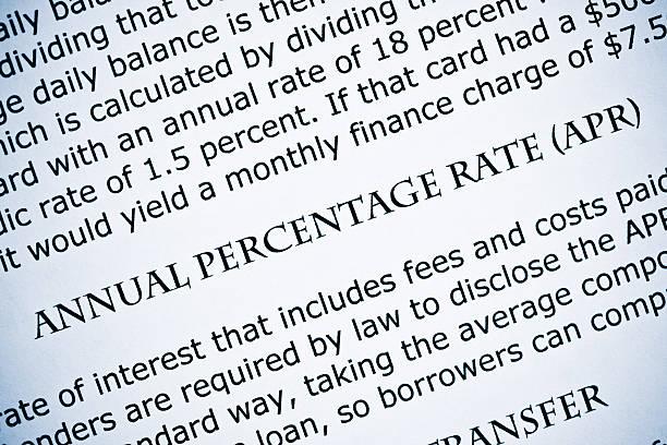 Annual percentage rate - APR stock photo
