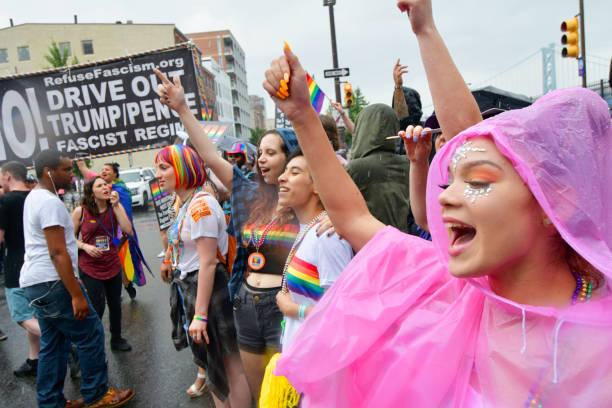 Annual Philly Pride Parade stock photo