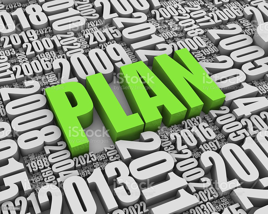 Annual Planning royalty-free stock photo