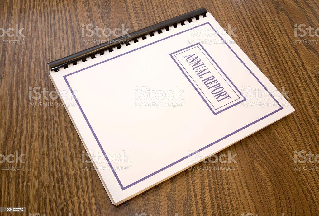 Annual Report on a Desk stock photo