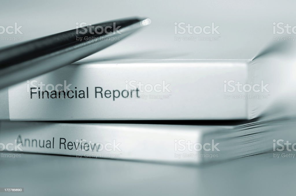 annual report series royalty-free stock photo