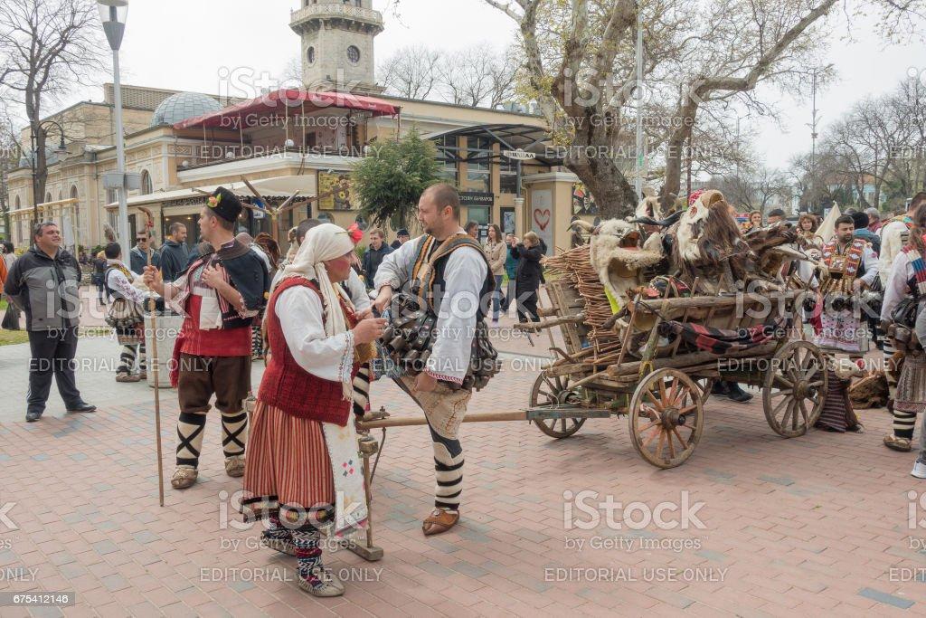 Carnaval de printemps annuel à Varna, Bulgarie photo libre de droits
