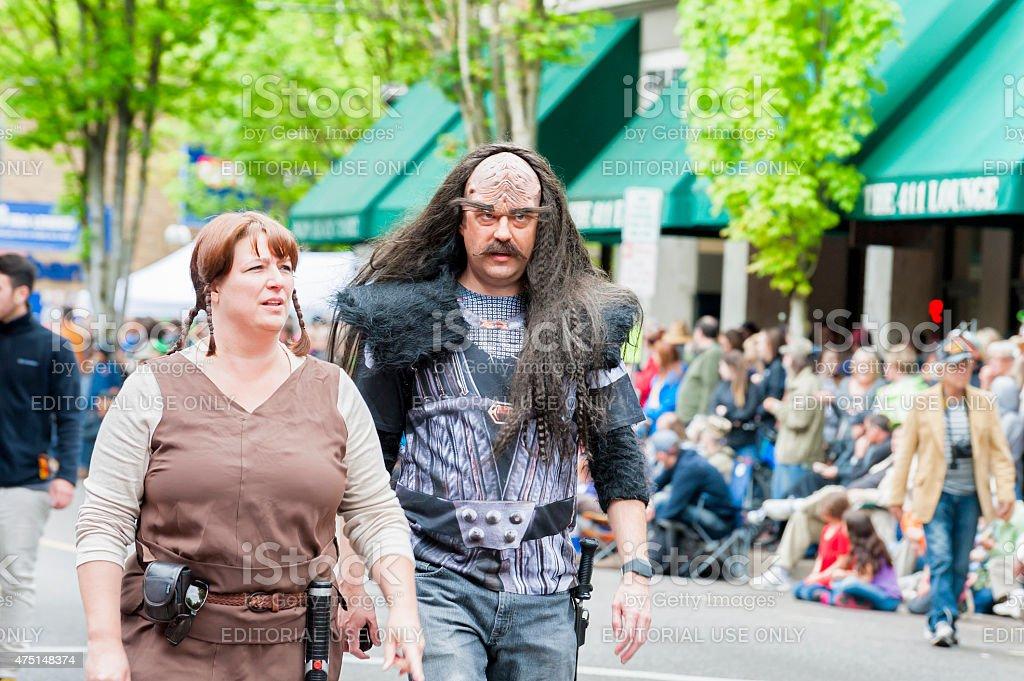 Annual UFO Festival in McMinville Oregon stock photo