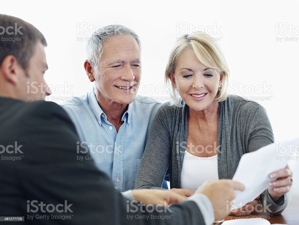 Annuity pay-out stock photo