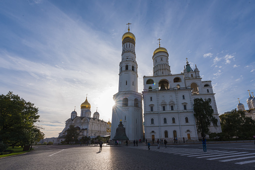 istock Annunciation and Assumption cathedrals of Moscow Kremlin. 502397014