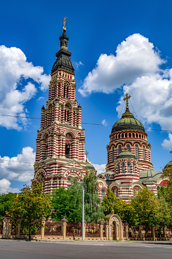 istock Annunciation Cathedral in Kharkov close-up, vertical 1264437254