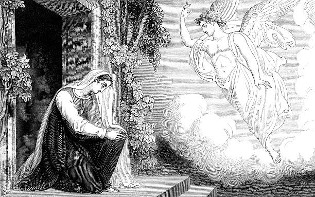 Annunciation To The Virgin Mary stock photo