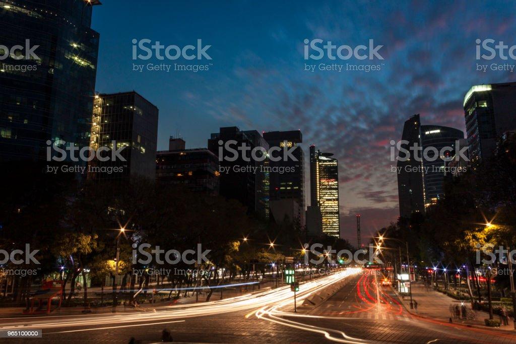 Anochecer en la Ciudad de México royalty-free stock photo