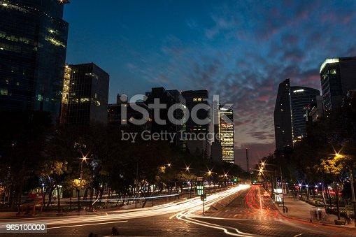 Anochecer En La Ciudad De México Stock Photo & More Pictures of Architecture