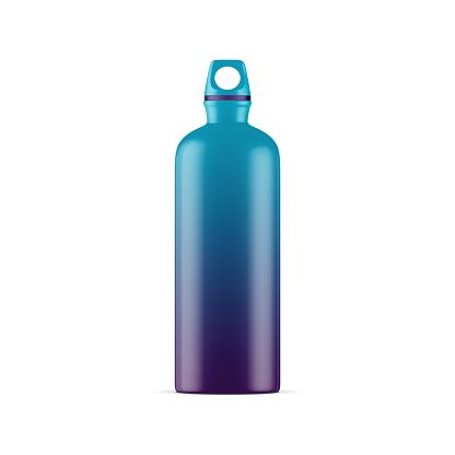 istock Anodized Aluminum water sport bike Bottle Mockup isolated on white background 873164744