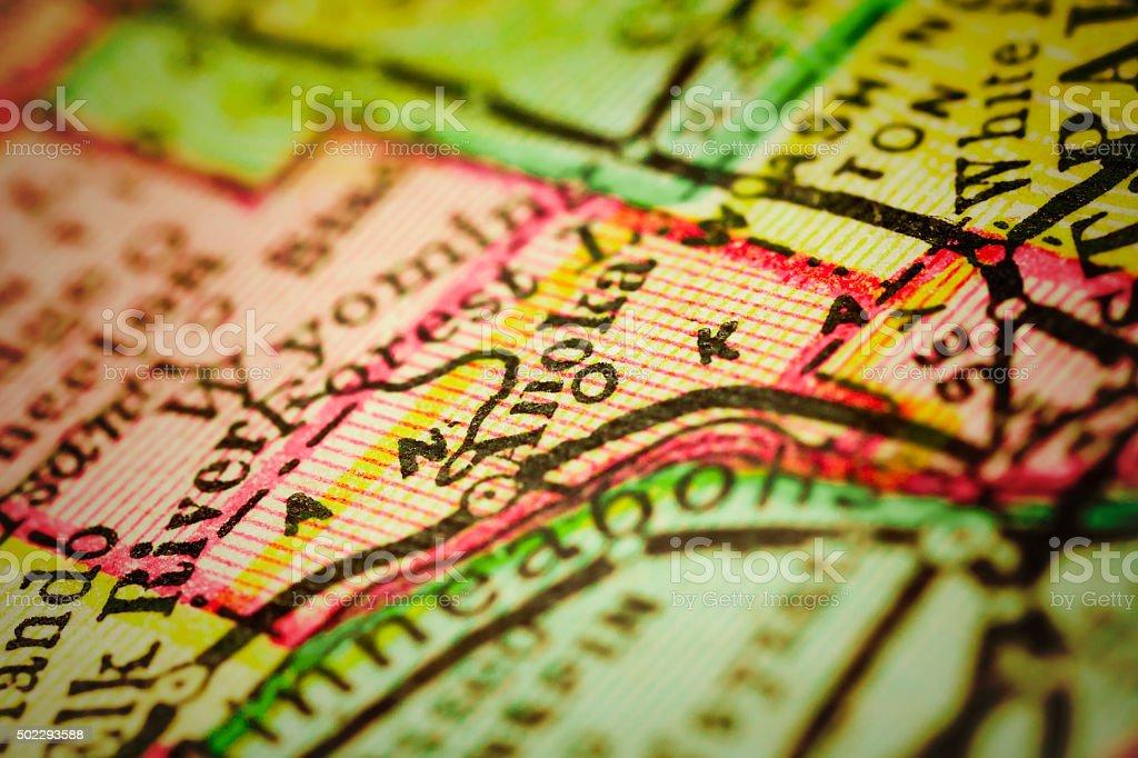 Anoka   Minnesota County maps stock photo
