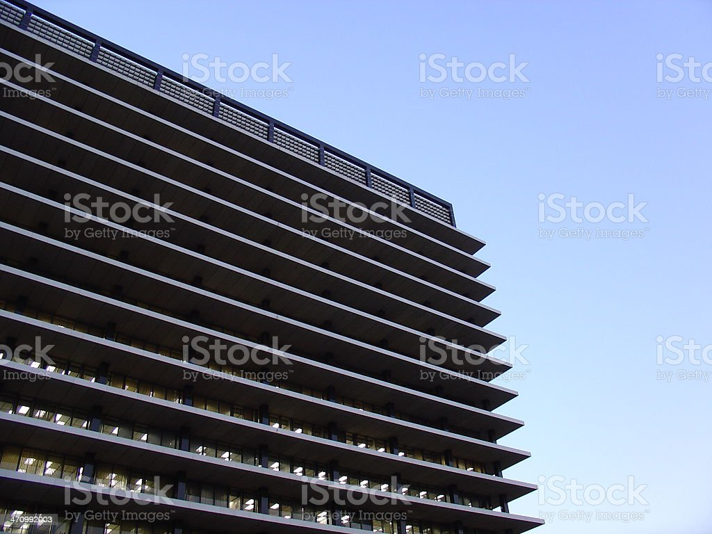 Anonymous corporate building 2 stock photo