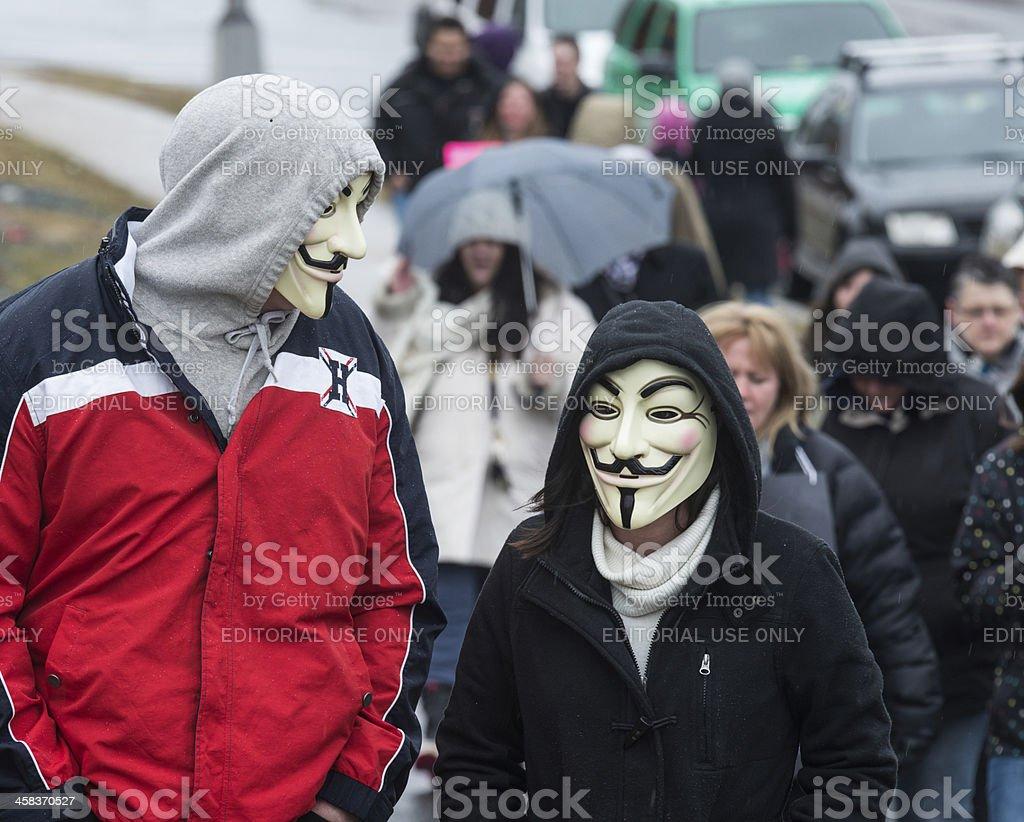 Anonymous Couple stock photo