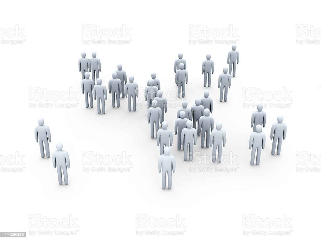 Anonymous Crowd royalty-free stock photo