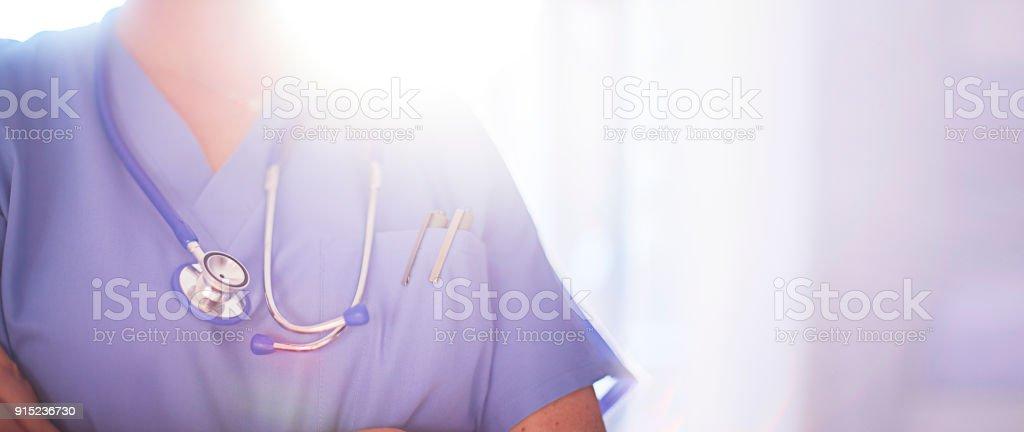 Anonyme Arzt oder Chirurg auf Krankenstation Lizenzfreies stock-foto