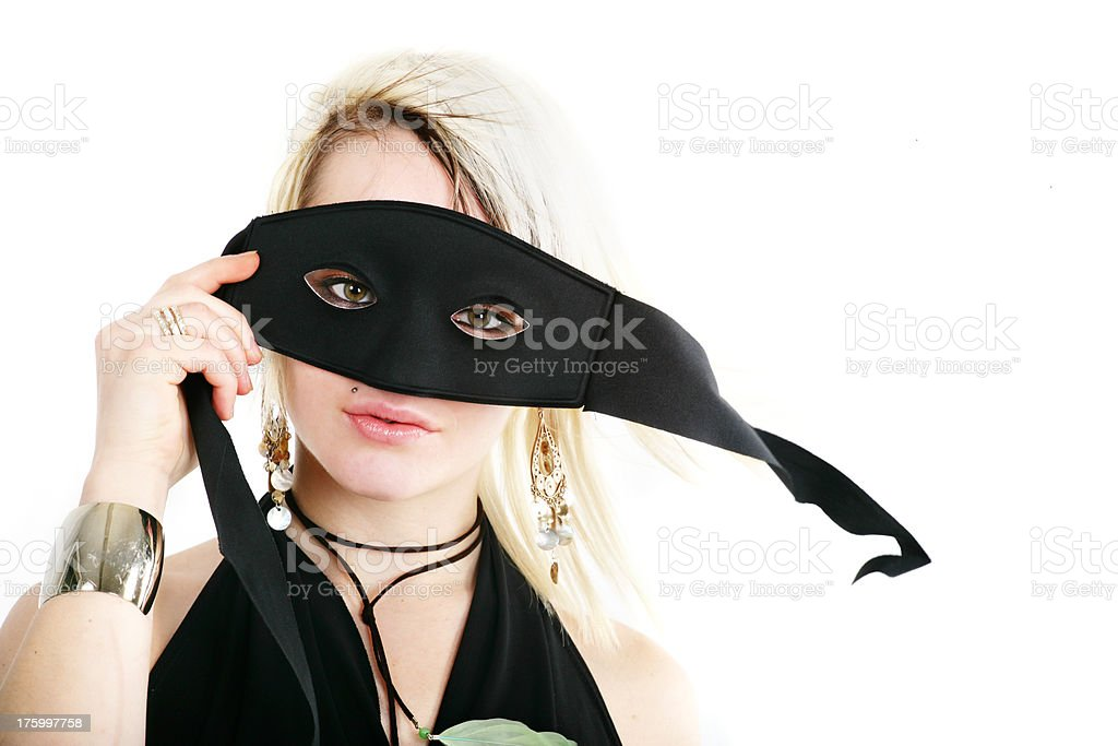 Rapariga anónimo - fotografia de stock