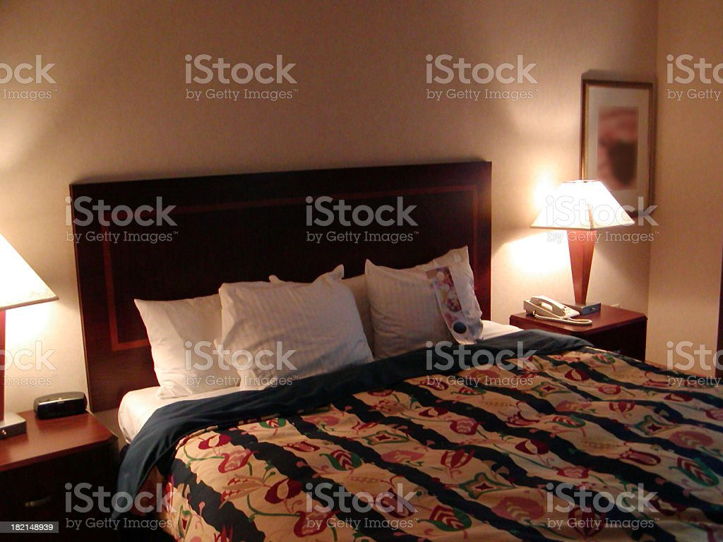 anonymous hotel room royalty-free stock photo