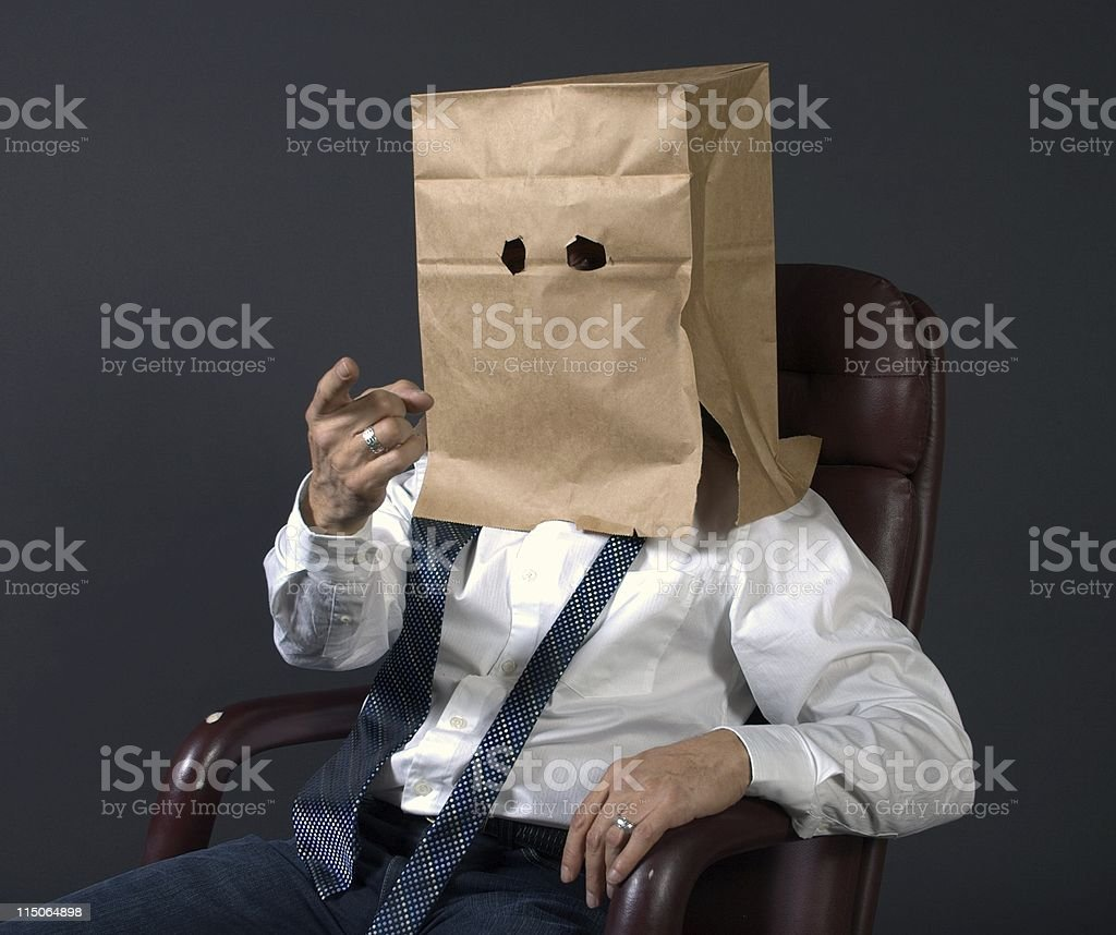 anonymous identity businessman royalty-free stock photo