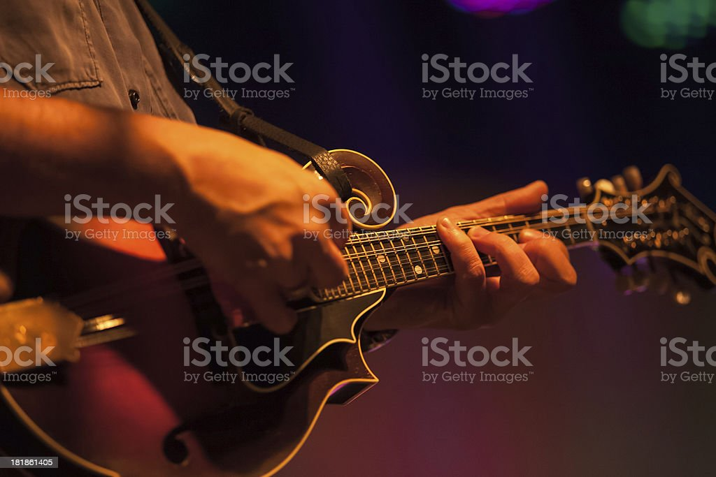 Anonymous Mandolinist stock photo