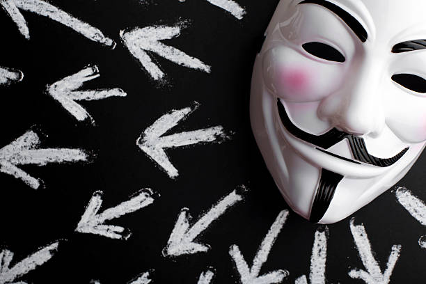 anonymous mask - guy fawkes mask stock photos and pictures