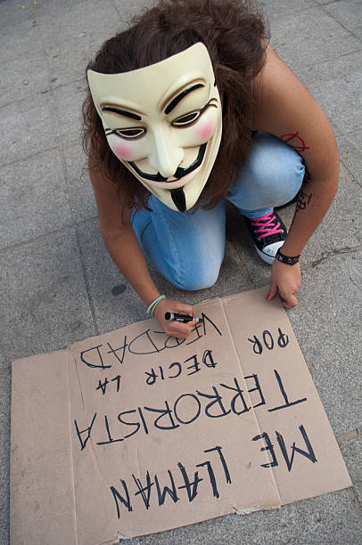 anonymous - guy fawkes mask stock photos and pictures