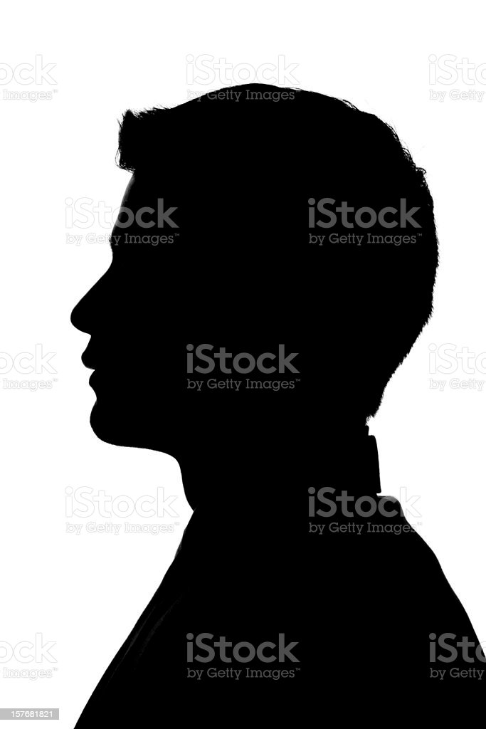 Anonymous Profile - Young Man Silhouette stock photo