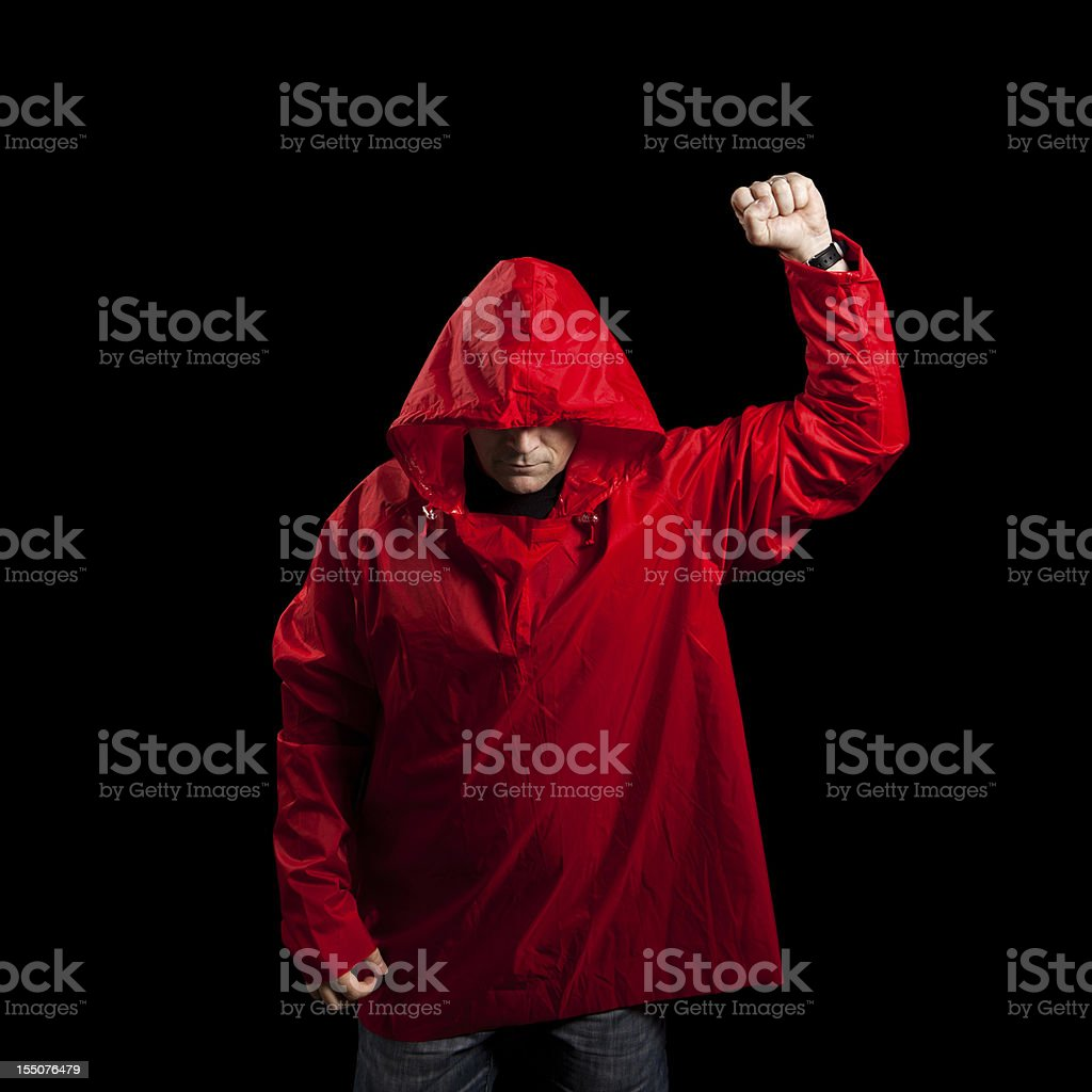 Anonymous Protestor royalty-free stock photo