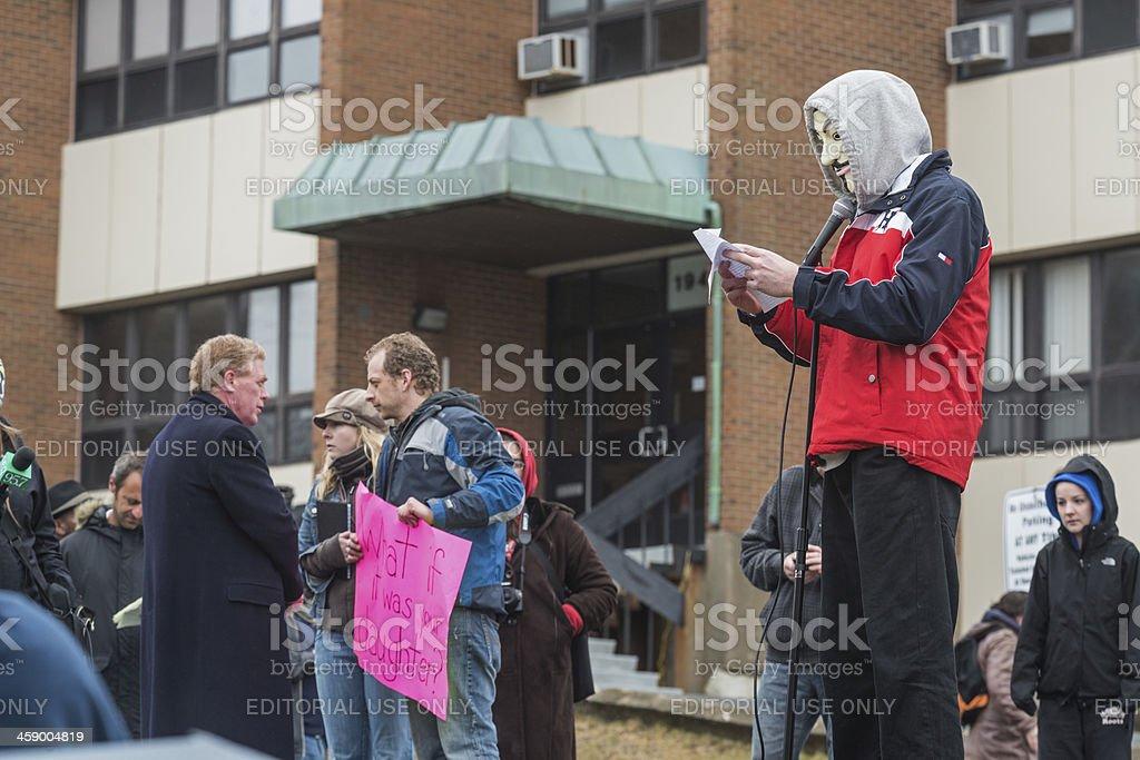 Anonymous Speaks stock photo