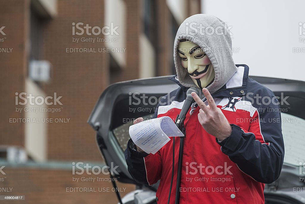 Anonymous States the Facts stock photo