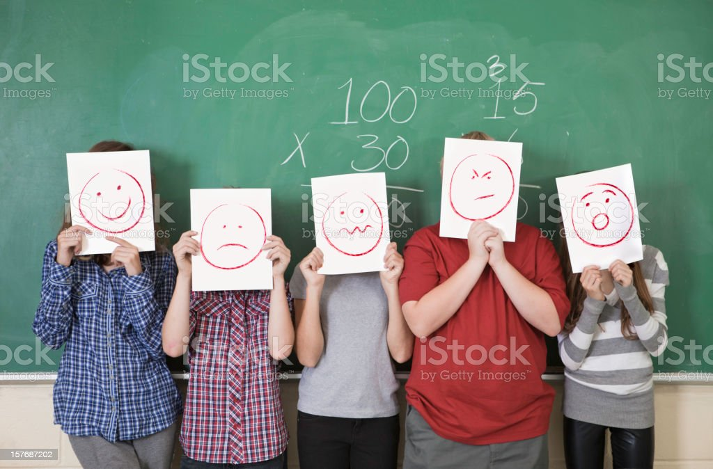 Anonymous Students royalty-free stock photo