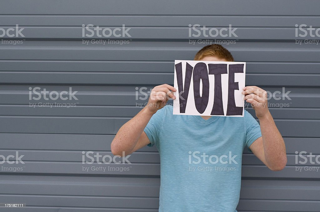 Anonymous voter royalty-free stock photo