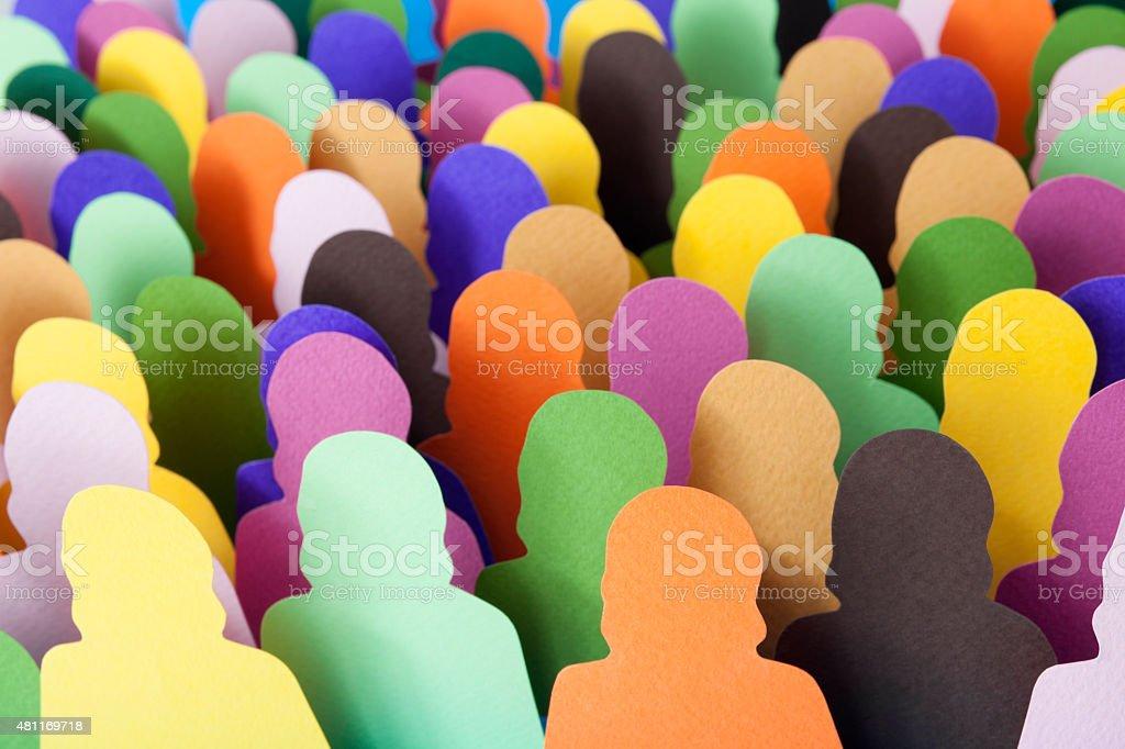 Anonymous women crowd stock photo