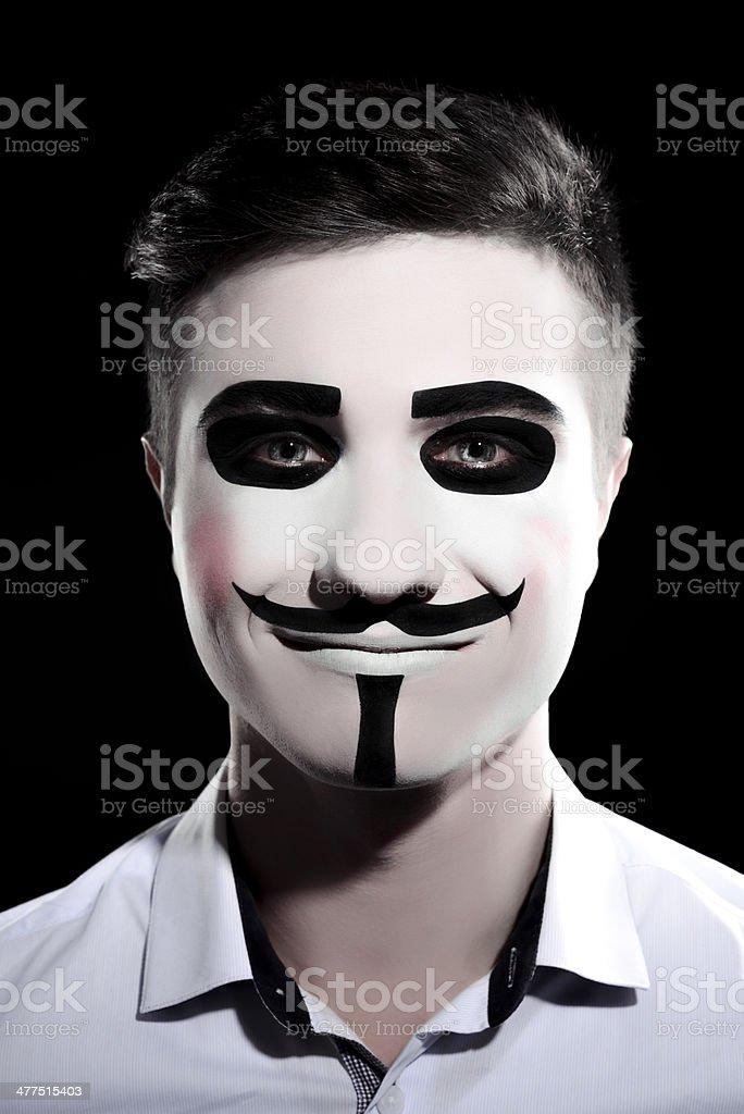 anonymus Maquiagem de Halloween - fotografia de stock