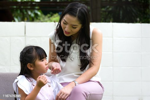 istock Anorexia and difficulty eating in young children. 1167476395