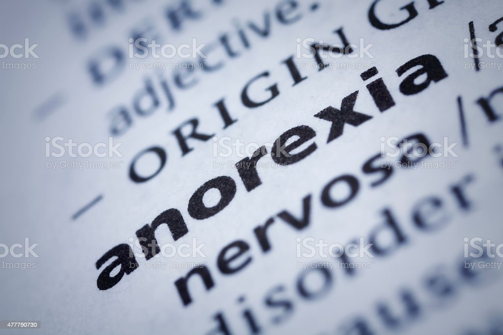 Anorexia: Dictionary Close-up stock photo