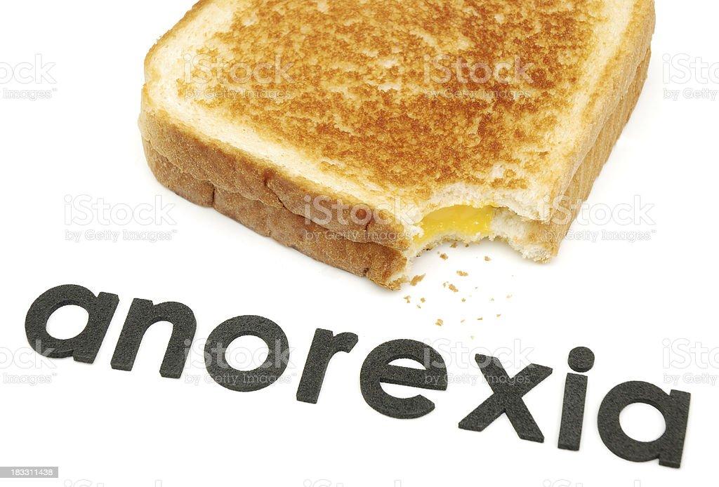 Anorexia. royalty-free stock photo