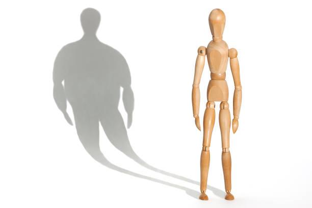 anorexia - lichaamsbewustzijn stockfoto's en -beelden