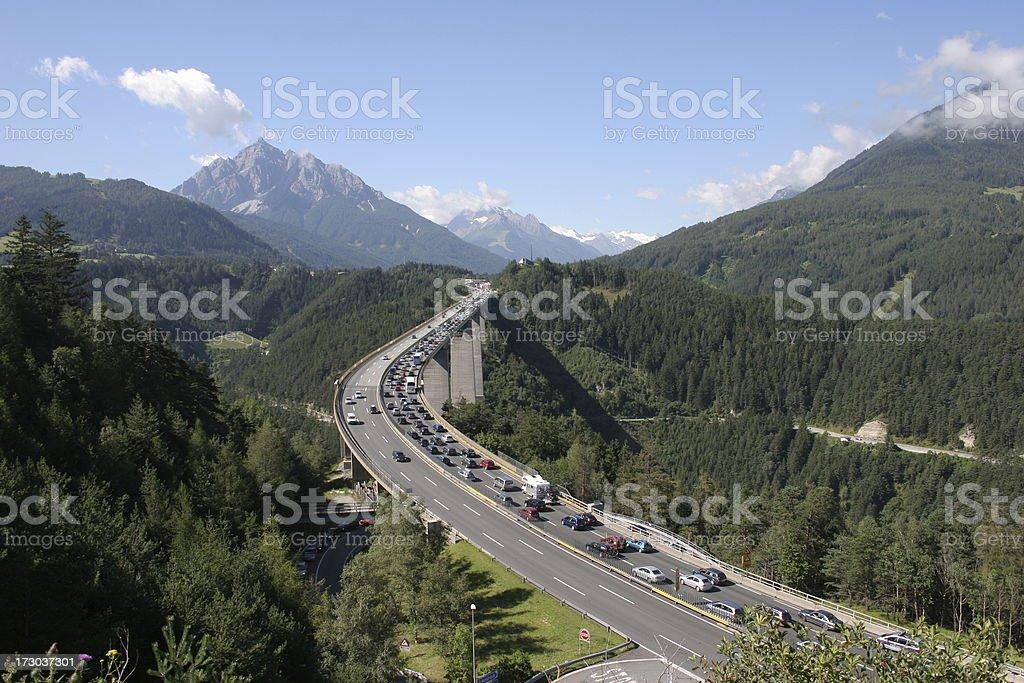 Ein alpine traffic jam – Foto