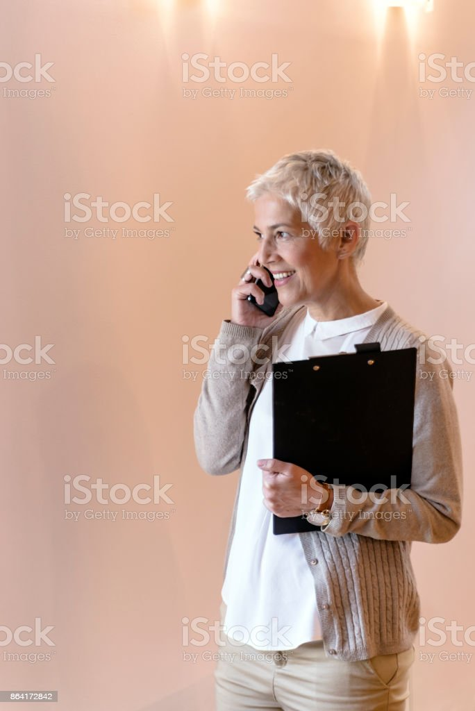 Another call from a happy client royalty-free stock photo