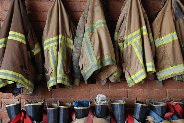 another day at work - firefighter stock photos and pictures