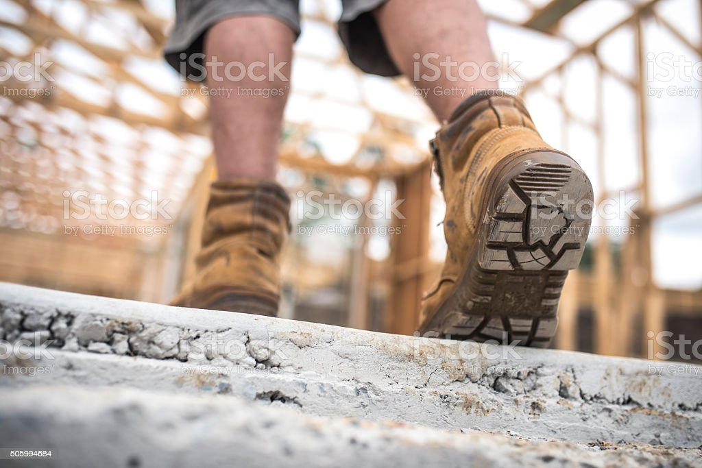 Another day on construction site stock photo