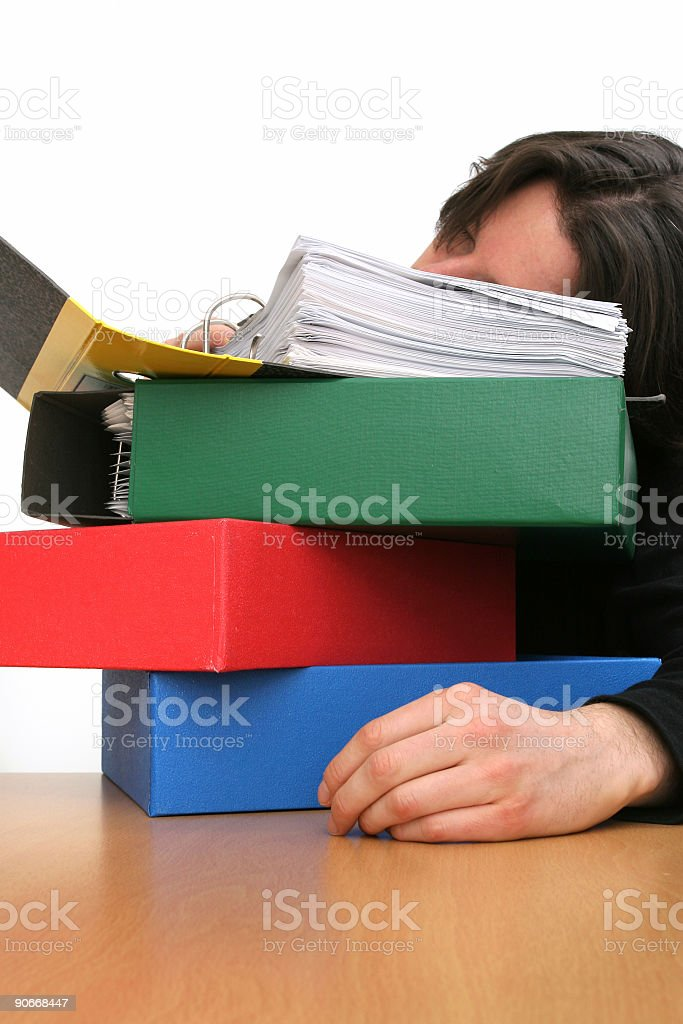 Another exhausting day royalty-free stock photo
