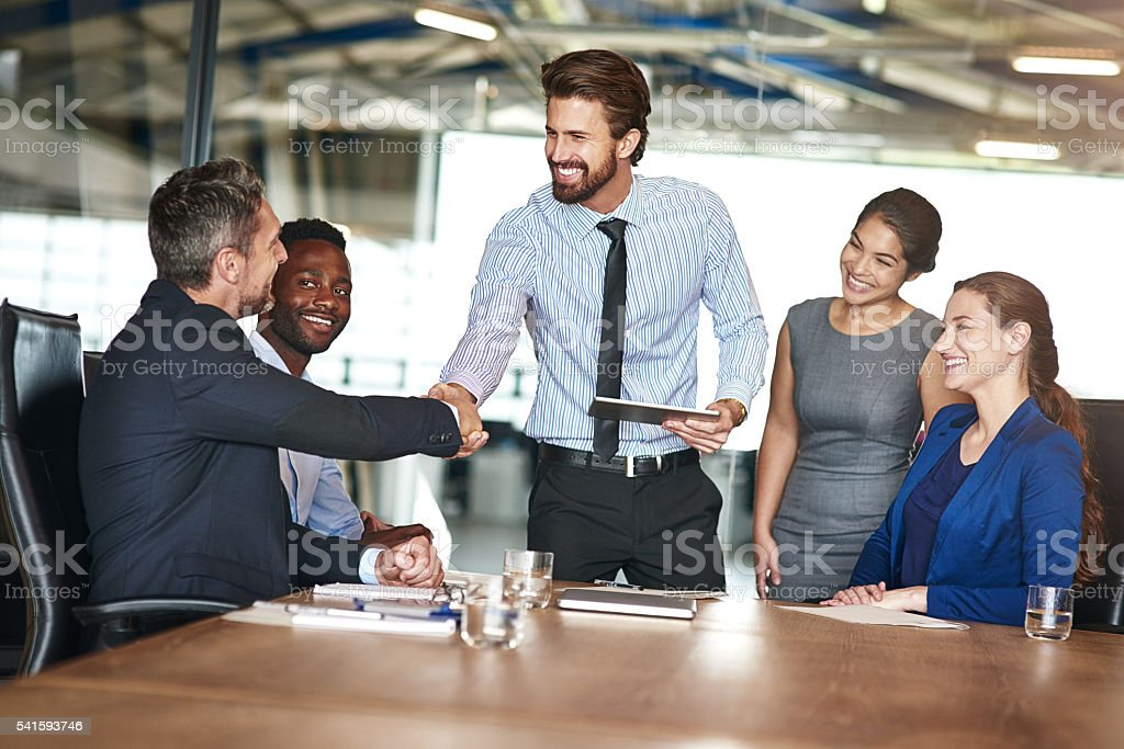 Another fine job in the books! stock photo