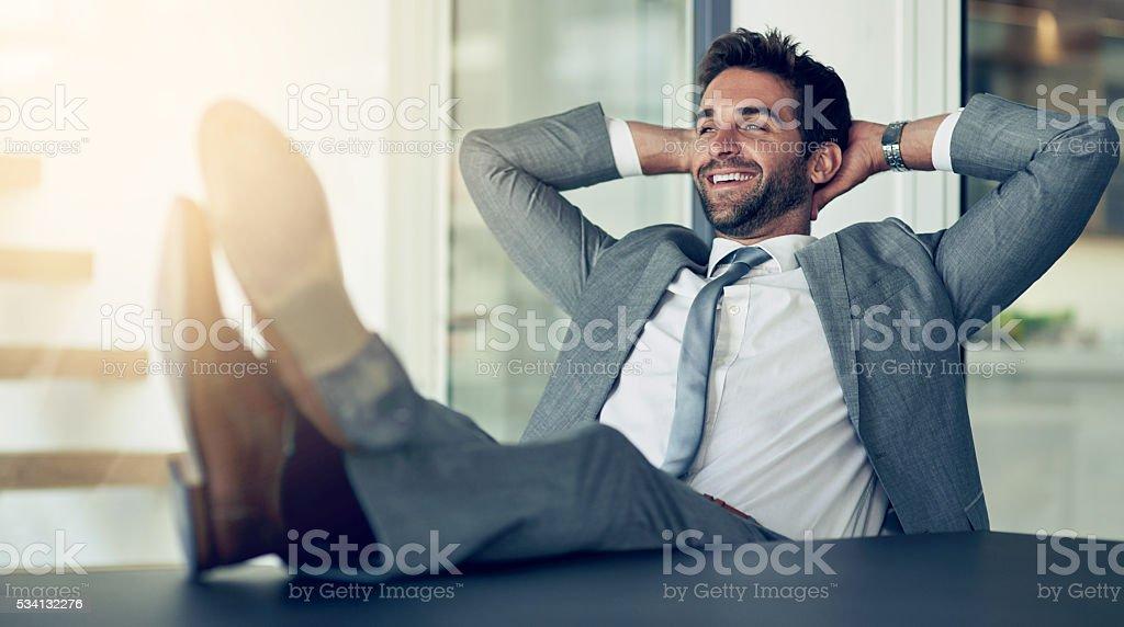 Eine weiterer grossartiger Tag für business - Lizenzfrei Anzug Stock-Foto