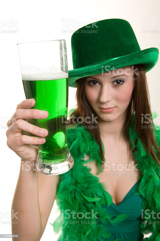 Another Green Beer Toast royalty-free stock photo