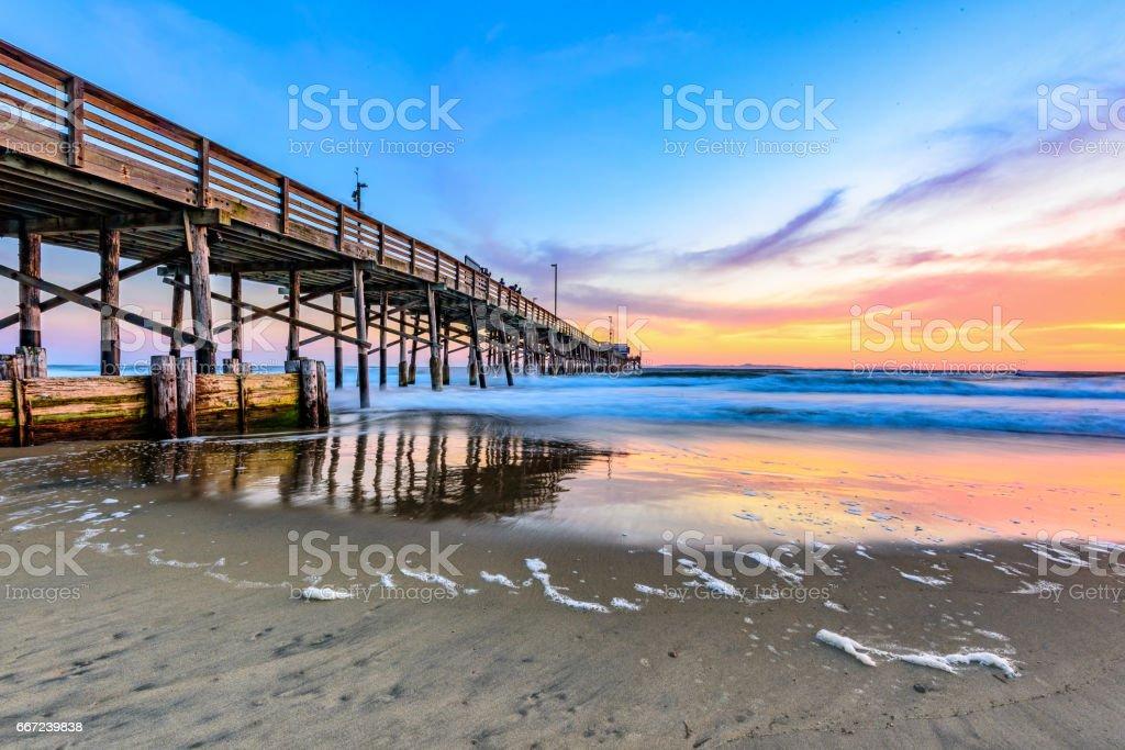 Another Newport Beach Sunset stock photo