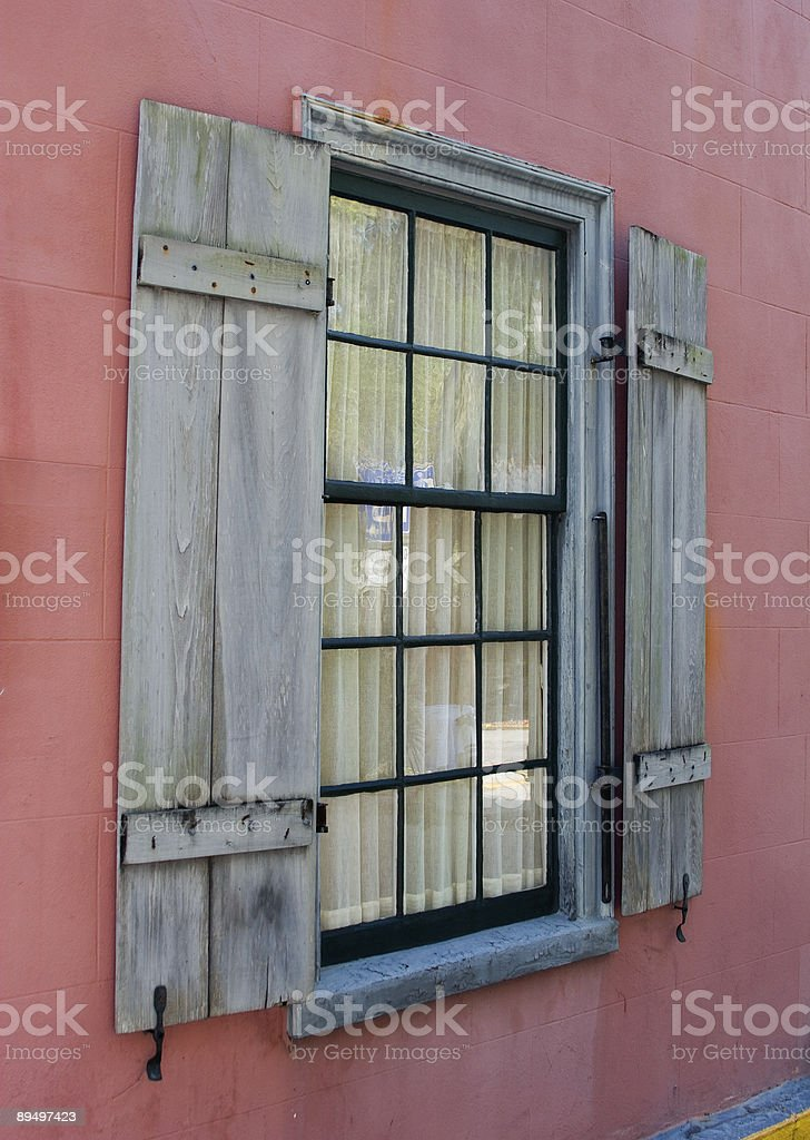Another old window royaltyfri bildbanksbilder