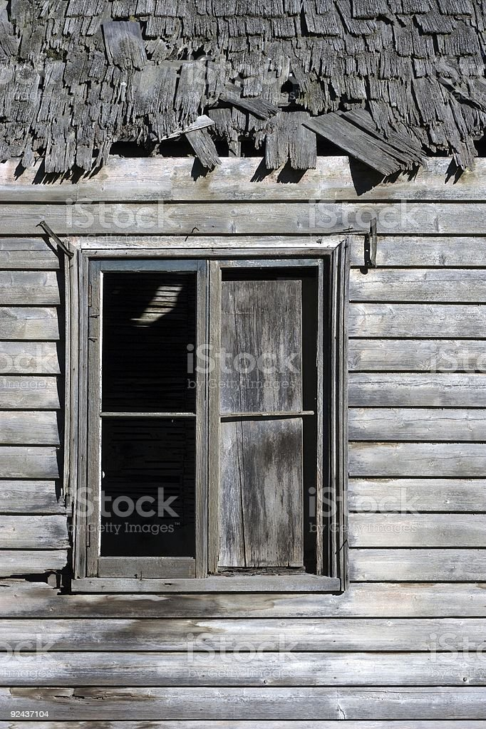 Another old window stock photo